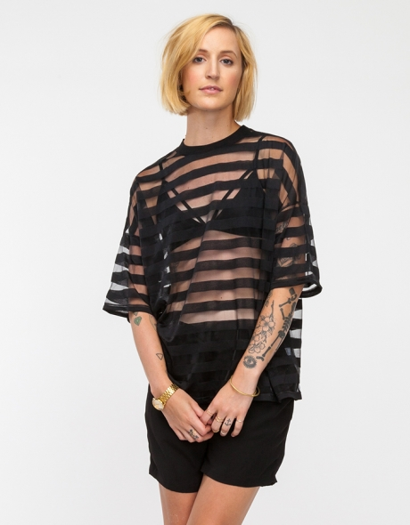 Sheer Stripe Top